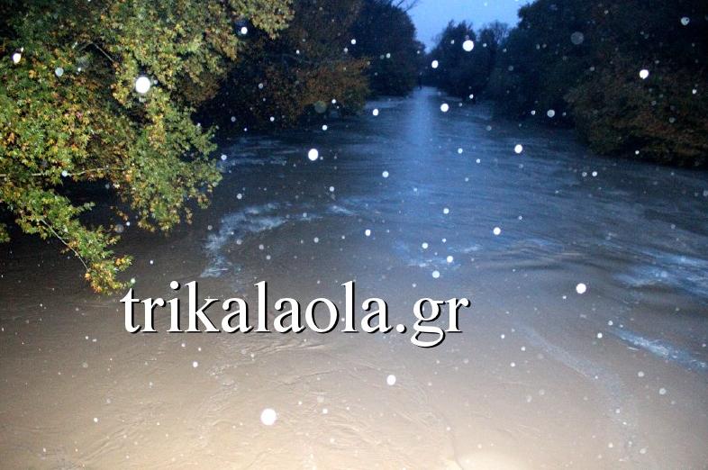ΤΡΙΚΑΛΑ: Χιλιάδες στρέμματα στο νερό – Υπερχείλισε ο Πηνειός