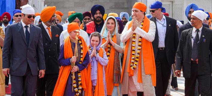 Ο Τζάστιν Τριντό στην Ινδία (Φωτογραφία: Public Relations Office Govt. Of Punjab via AP)