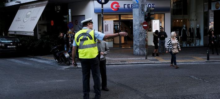Τροχονόμος στο κέντρο της Αθήνας /Φωτογραφία Αρχείου: Sooc