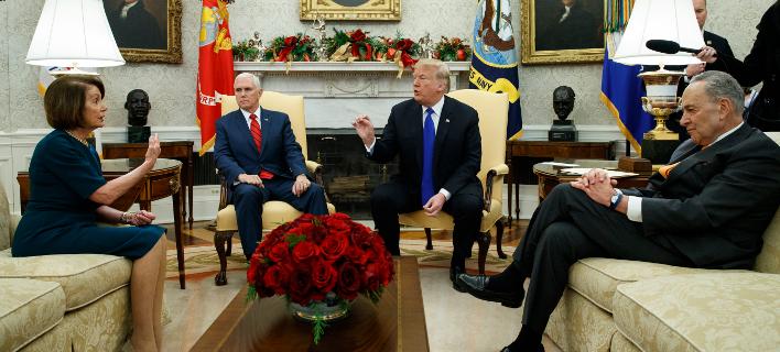 Αγρια κόντρα Τραμπ-Δημοκρατικών για το «τείχος» στα σύνορα (Φωτογραφία: AP Photo/Evan Vucci)