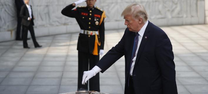 Τραμπ: Το δικό μου «κουμπί» για τα πυρηνικά είναι δυνατότερο από του Κιμ /Φωτογραφία: ΑΡ