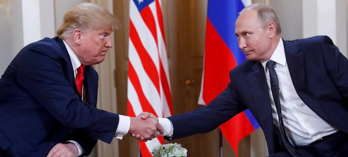 συνάντηση Τραμπ-Πούτιν στο Ελσίνκι/Φωτογραφία: AP
