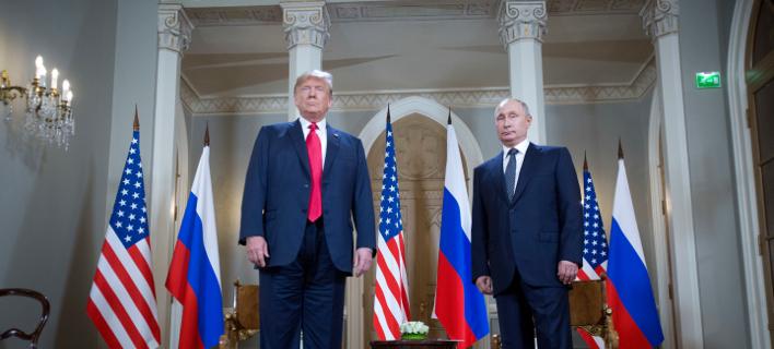 Οι πρόεεδροι ΗΠΑ και Ρωσίας, Ντόναλντ Τραμπ και Βλαντίμιρ Πούτιν (Φωτογραφία αρχείου: ΑP /Pablo Martinez Monsivais)