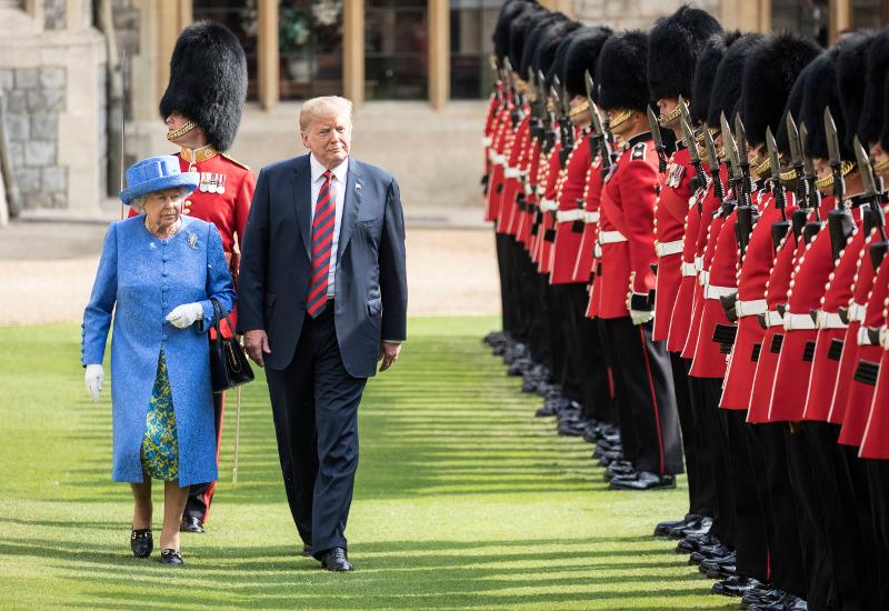 Ο Ντόναλντ Τραμπ δήλωσε πως συμπάθησε πάρα πολύ την βασίλισσα