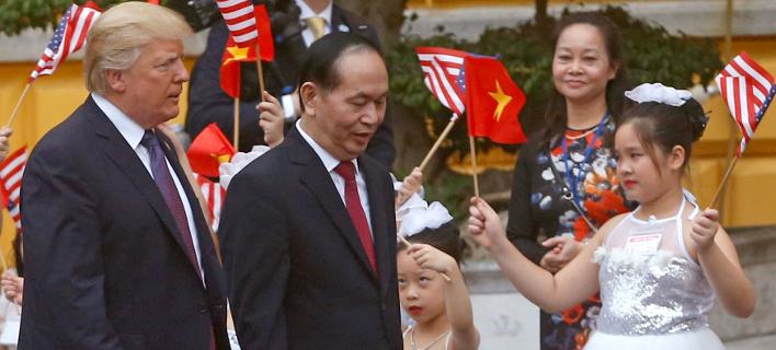 Ο Ντόναλντ Τραμπ επισκέφθηκε το Βιετνάμ στις 12 Νοεμβρίου (Φωτογραφία: ΑΡ)