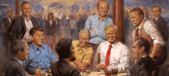 Το «Κλαμπ των Ρεπουμπλικανών», πίνακας στον Λευκό Οίκο/ Φωτογραφία: Twitter