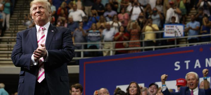 «Σατανικό πρόεδρο» αποκαλεί η Β. Κορέα τον Τραμπ (Φωτογραφία: AP/ Evan Vucci)
