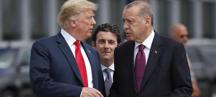 Ο Ντόναλντ Τραμπ με τον Ταγίπ Ερντογάν/ Φωτογραφία: AP- Pablo Martinez Monsivais