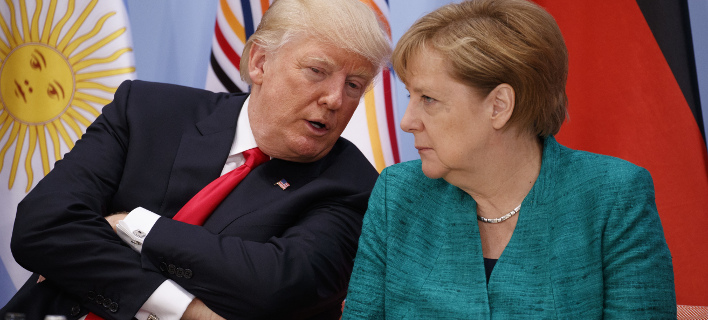 Υπέρ της διπλωματίας, κατά της ρητορικής Τραμπ η Μέρκελ (Φωτογραφία: AP/ Evan Vucci)