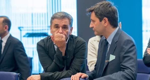 Οι κ.κ. Ευκλείδης Τσακαλώτος και Γιώργος Χουλιαράκης -Φωτογραφία: © European Union