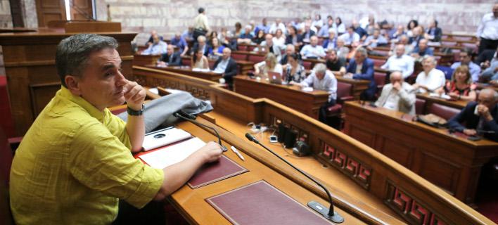 «Τονωτικές ενέσεις» Τσακαλώτου στους βουλευτές του ΣΥΡΙΖΑ για τις συντάξεις -Φωτογραφία: Intimenews/ΣΤΕΦΑΝΟΥ ΣΤΕΛΙΟΣ