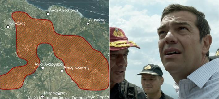 Κάηκαν 26.900 στρέμματα στην Ανατολική Αττική/Φωτογραφία: EUROKINISSI