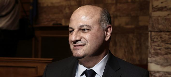 Ο γραμματέας της ΚΟ της ΝΔ Κωνσταντίνος Τσιάρας -Φωτογραφία: Menelaos Myrillas / SOOC