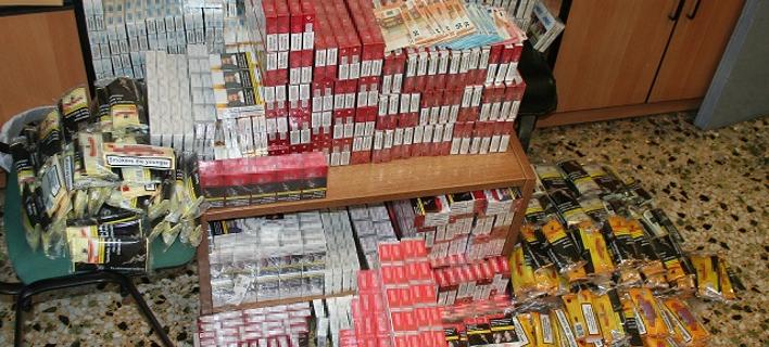 Το... φορτίο με τα καπνικά που κατασχέθηκαν / Φωτογραφία: Διεύθυνση Αστυνομίας Καβάλας