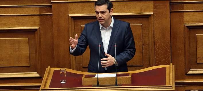Live η ομιλία Τσίπρα στη Βουλή