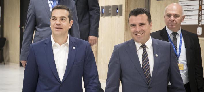 Αλέξης Τσίπρας και Ζόραν Ζάεφ/ Φωτογραφία eurokinissi
