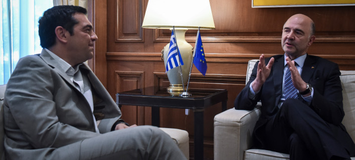 O Αλέξης Τσίπρας και ο Πιερ Μοσκοβισί/ Φωτογραφία eurokinissi
