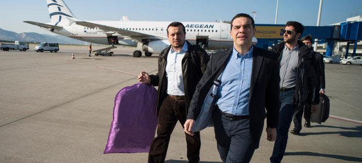 Ξανά στο αεροπλάνο ο Αλέξης Τσίπρας: Από τη Μόσχα μεταβαίνει στο Μαρόκο -Φωτογραφία: ΓτΠ Andrea Bonetti