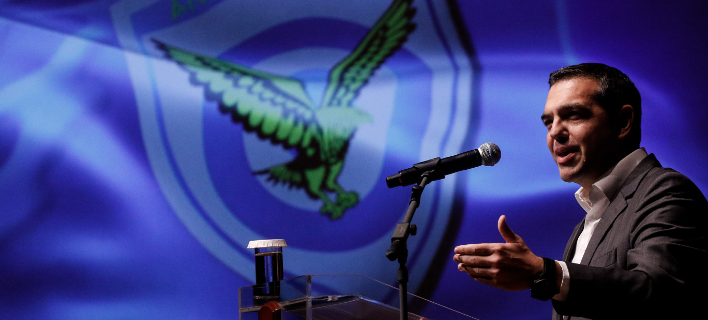 Εφάπαξ επιστροφή αναδρομικών σε ενστόλους ανακοίνωσε ο Αλέξης Τσίπρας -(EUROKINISSI/ΓΙΩΡΓΟΣ ΚΟΝΤΑΡΙΝΗΣ