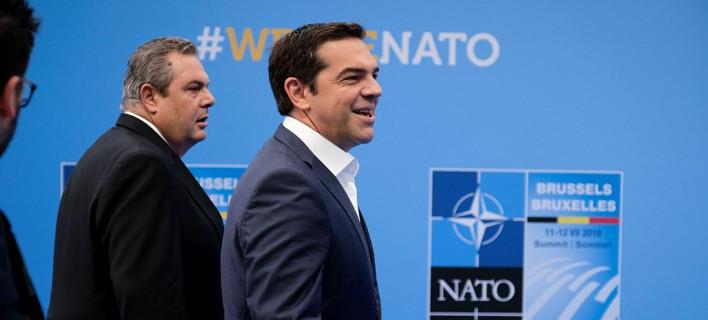 Ο Αλέξης Τσίπρας και ο Πάνος Καμμένος / Φωτογραφία: Eurokinissi