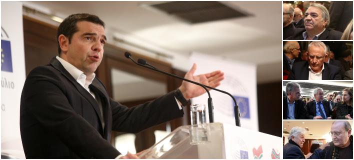 Μπίστης, Ραγκούσης, Δανέλλης, Παπαχριστόπουλος σε εκδήλωση για τον Παπαδημούλη, με ομιλητή τον Τσίπρα