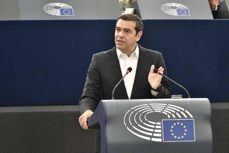 Ο Αλέξης Τσίπρας στο Ευρωκοινοβούλιο/ Φωτογραφία: Eurokinissi
