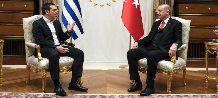 Από την συνάντηση Τσίπρα-Ερντογάν στο «Λευκό Παλάτι» στην Αγκυρα -Φωτογραφία: Intimenews/ΓτΠ ANDREA BONETTI