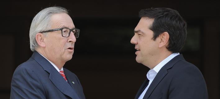 Αλέξης Τσίπρας & Ζαν Κλοντ Γιούνκερ (Φωτογραφία: EUROKINISSI/ΤΑΤΙΑΝΑ ΜΠΟΛΑΡΗ)