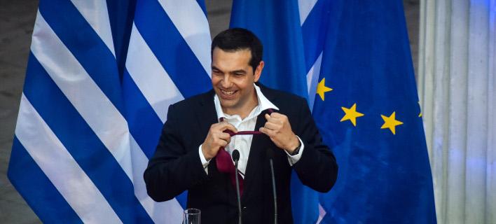 Ο Αλέξης Τσίπρας στο Ζάππειο μετά τη συμφωνία στο Eurogroup