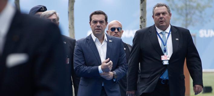 Ο πρωθυπουργός Αλέξης Τσίπρας και ο ΥΠΕΘΑ Πάνος Καμμένος / Φωτογραφία: SOOC/Alexandros Michailidis