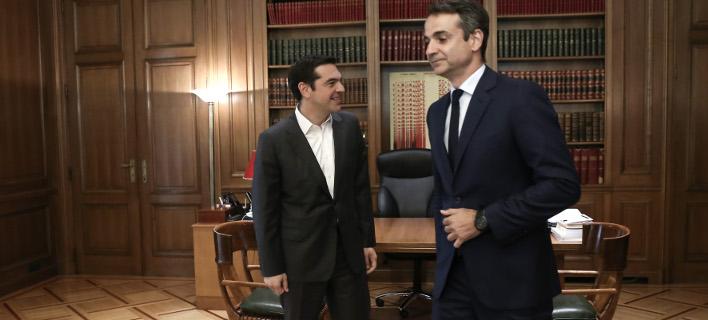 Αλέξης Τσίπρας και Κυριάκος Μητσοτάκης /Φωτογραφία Αρχείου: Ιntime News