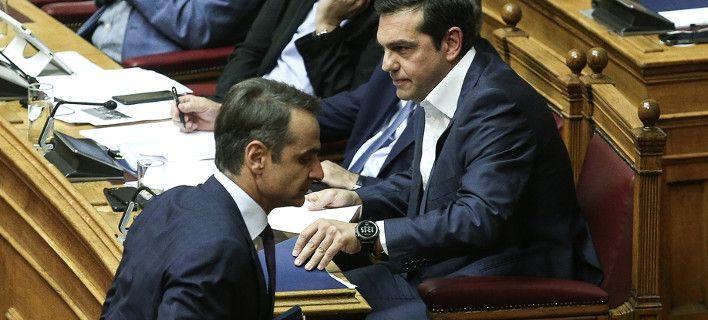 Αλέξης Τσίπρας, Κυριάκος Μητσοτάκης /Φωτογραφία: Sooc