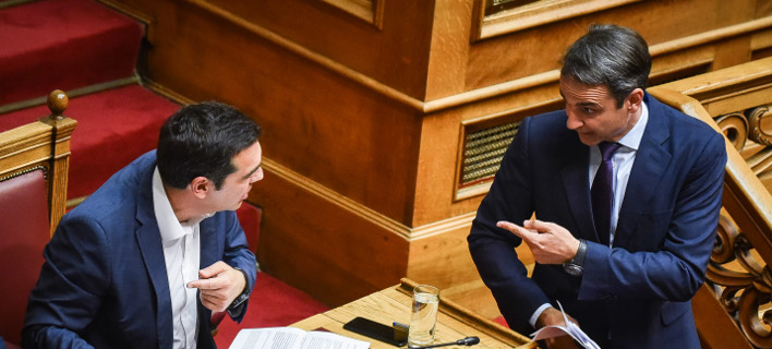 Σφοδρή αντιπαράθεση Τσίπρα-Μητσοτάκη με αλληλοκατηγορίες για διαπλοκή -Φωτογραφία: EUROKINISSI/ΤΑΤΙΑΝΑ ΜΠΟΛΑΡΗ