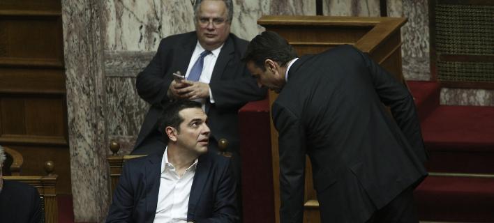 Αλέξης Τσίπρας-Κυριάκος Μητσοτάκης /Φωτογραφία Αρχείου: Intime news