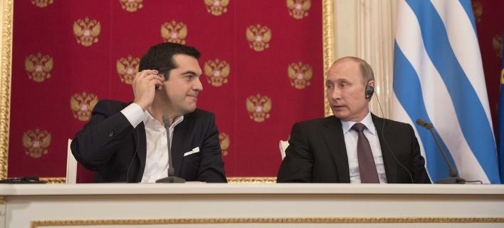 Ο Αλέξης Τσίπρας και ο Βλάντιμιρ Πούτιν / Φωτογραφία: SOOC