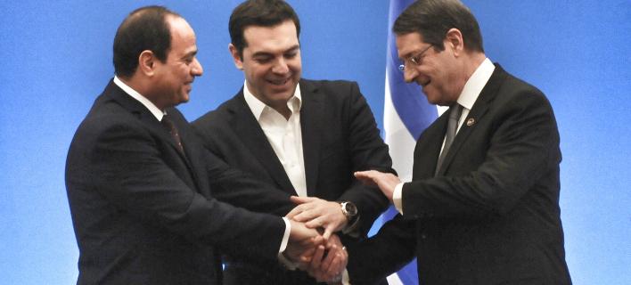 Κοινή συνάντηση Αναστασιάδη -Σίσι -Τσίπρα την Τρίτη, στην Κύπρο