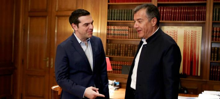 O Αλέξης Τσίπρας και ο Στ. Θεοδωράκης στο Μαξίμου -Φωτογραφία αρχείου: Intimenews/ΤΖΑΜΑΡΟΣ ΠΑΝΑΓΙΩΤΗΣ