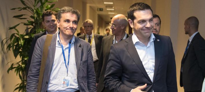 Αγωνία στην κυβέρνηση για την απόφαση του Eurogroup για το ελληνικό χρέος / Φωτογραφία: Eurokinissi