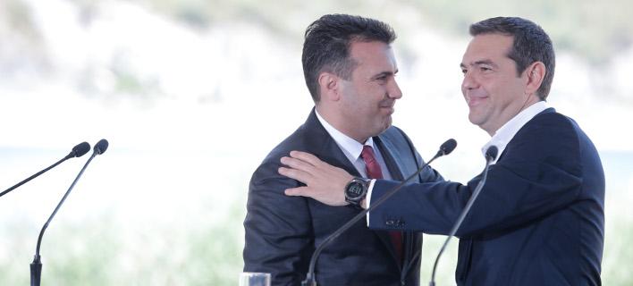 Ο Τσίπρας συνεχάρη τον Ζάεφ για τη συμφωνία των Πρεσπών (Φωτογραφία: intimenews/ΤΟΣΙΔΗΣ ΔΗΜΗΤΡΗΣ)