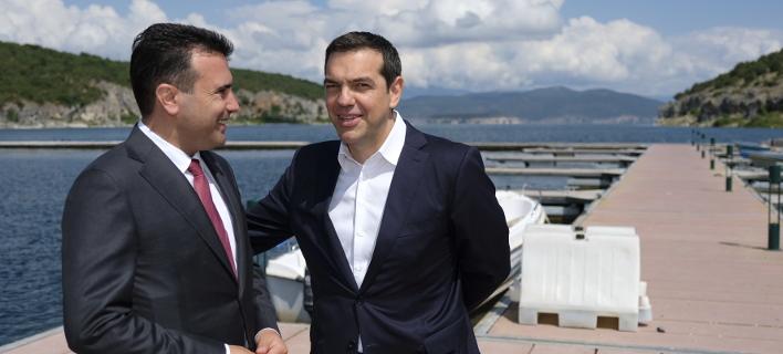Ζόραν Ζάεφ & Αλέξης Τσίπρας (Φωτογραφία: EUROKINISSI/ΓΡΑΦΕΙΟ ΤΥΠΟΥ ΠΡΩΘΥΠΟΥΡΓΟΥ/ANDREA BONETTI)