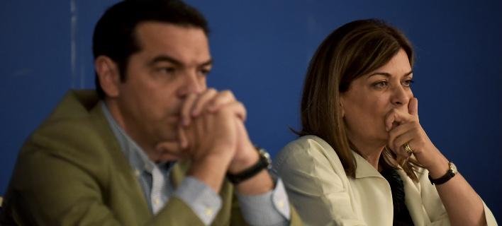 Ο Αλέξης Τσίπρας με την Ράνια Αντωνοπούλου (Φωτογραφία: EUROKINISSI/ΤΑΤΙΑΝΑ ΜΠΟΛΑΡΗ)