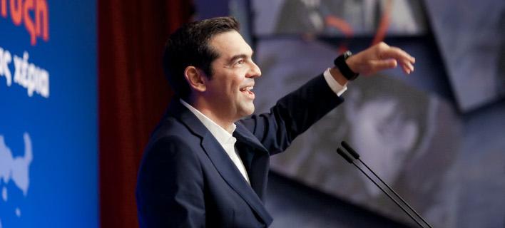 Ο Αλέξης Τσίπρας σε περιφερειακό συνέδριο στην Κρήτη -Φωτογραφία: Intimenews