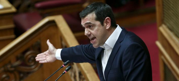 Εντονες αντιδράσεις προκάλεσε η αναφορά Τσίπρα για όσους έλεγαν ότι αρχηγός της 17Ν ήταν ο Α. Παπανδρέου -Φωτογραφία: Intimenews/ΤΖΑΜΑΡΟΣ ΠΑΝΑΓΙΩΤΗΣ