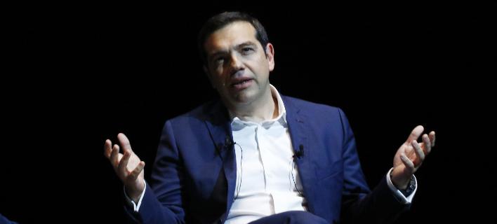 Ο πρωθυπουργός στο EquiFund -Φωτογραφίες: EUROKINISSI/ΓΙΩΡΓΟΣ ΚΟΝΤΑΡΙΝΗΣ