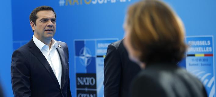 Ο Αλέξης Τσίπρας στις Βρυξέλλες /Φωτογραφία: AΡ