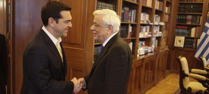 Στον Πρόεδρο της Δημοκρατίας ο Τσίπρας -Θα τον ενημερώσει για το Eurogroup