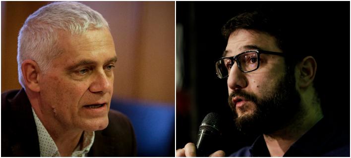 Από αριστερά: Ο Γ. Τσιρώνης και ο Ν. Ηλιόπουλος -Φωτογραφίες: Intimenews