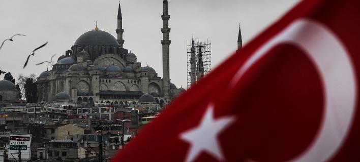 H τουρκική σημαία/ Φωτογραφία: ΑΡ