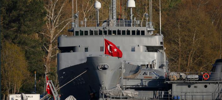Toυρκικό πολεμικό πλοίο/Φωτογραφία αρχείου: ΑΡ