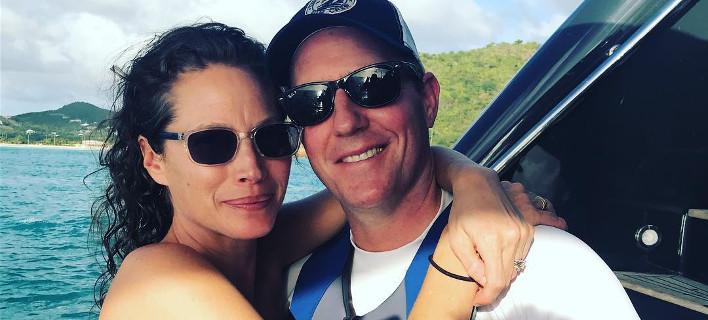 Η Κρίστι Τέρλινγκτον με τον σύζυγό της, Έντουαρντ Μπερνς, Φωτογραφία: cturlington/instagram